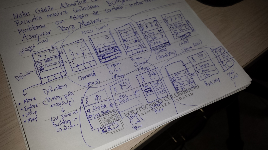 Mobile frontend sketches
