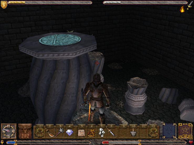 Atop a big pillar