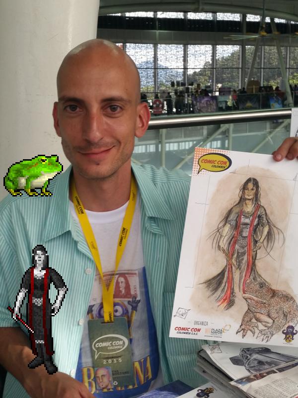 Arcane Master with a giant frog familiar by Fredy Gonzalez