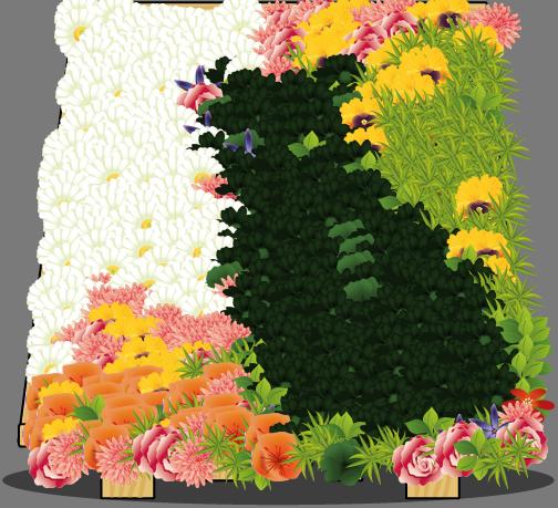 Resulting Flower arrangement