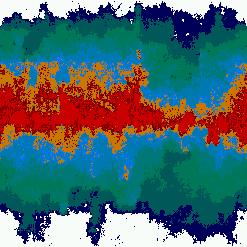 Fig. 5. Mapa de temperaturas generado a partir de una matriz con valores preinicializados en franjas