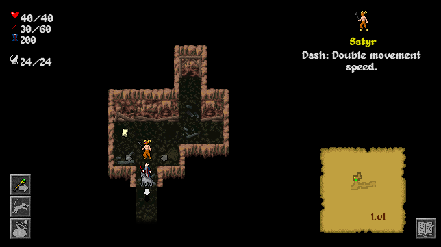 The cave leading to the entrance of the crypts