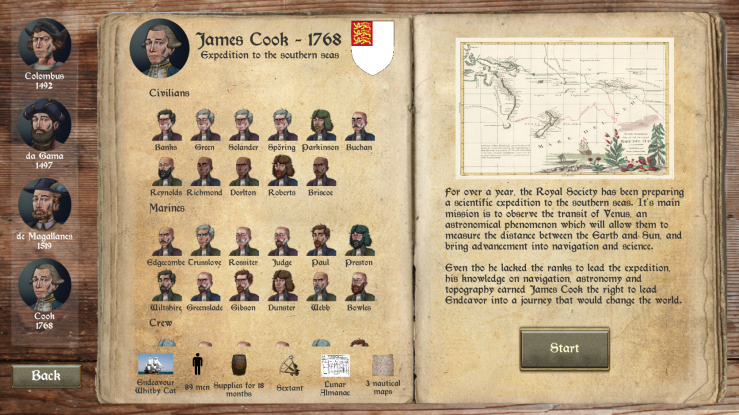 Campaign Selection Screen